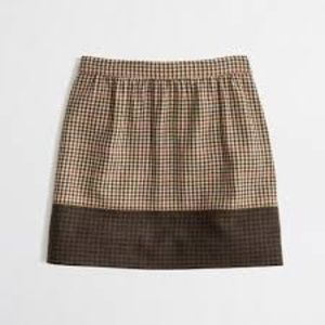 J.Crew Factory l Colorblock Plaid Mini Skirt.